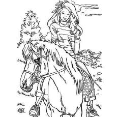 Barbie adora colorir cavalos