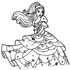 Barbie lindo vestido para colorir