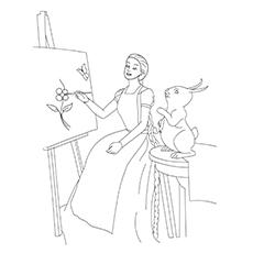 Desenhos para colorir das bonecas Rapunzel