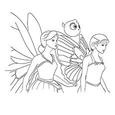 Barbie borboleta e conto de fadas para colorir