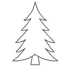 Modelo de cartão de árvore de Natal para colorir página para crianças