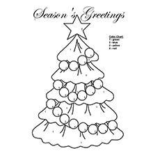 Cor da árvore de Natal pelo número de menção ao lado da imagem