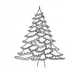 Contorno da árvore de Natal