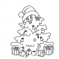 Árvore de Natal decorada como Papai Noel