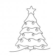 Árvore de Natal com enfeites