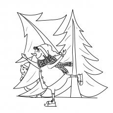 Snoman e árvore de Natal