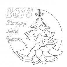 Árvore de Natal decorada com luz guirlanda