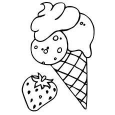 página para colorir alimentos