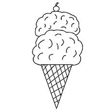 casquinha de sorvete para imprimir