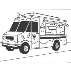 Caminhão de creme de gelo