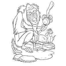 Desenhos de macaco babuíno para colorir