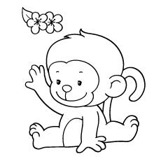 Desenhos de macaco bebê para colorir