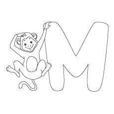 Desenhos de M para colorir grátis