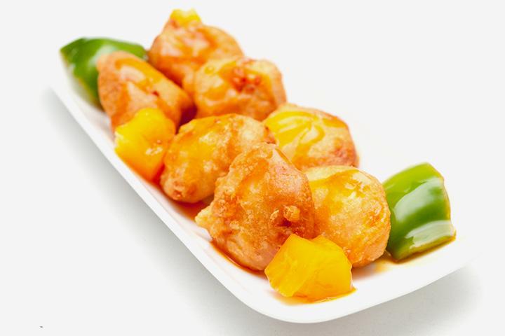 Nuggets de soja com pimenta verde