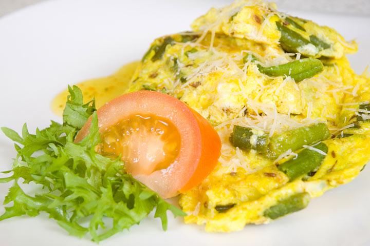 Feijão verde com ovo mexido