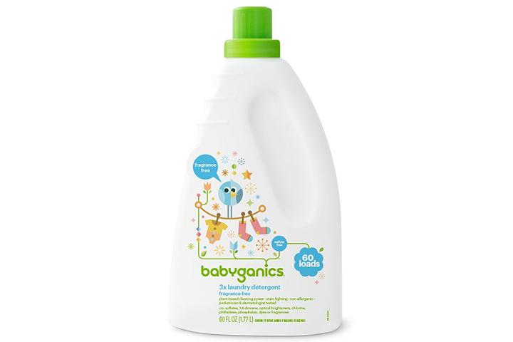 Babyganics 3X detergente para roupas de bebê