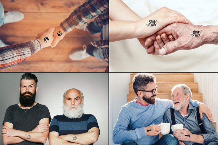 Idéias originais de tatuagem de pai e filho