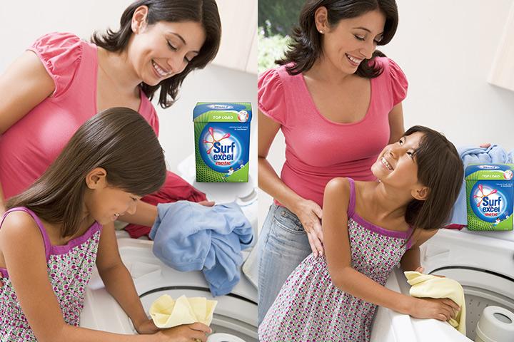 Trabalhando-a-mágica-enquanto-lavando-roupa-mamãe-maneira