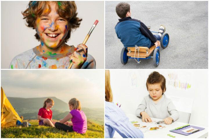 Fotos de atividades divertidas para adolescentes autistas