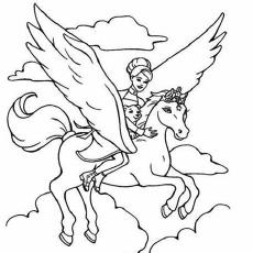 Colorir Barbie E A Magia De Pegasus