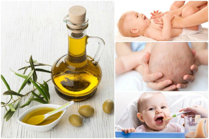 Principais benefícios do uso de azeite de oliva para bebês