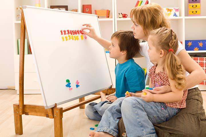 Ajudando seu filho com matemática do jardim de infância