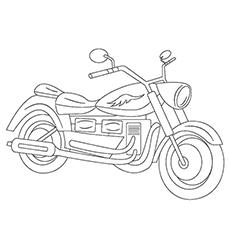 Desenhos para colorir Motocicleta
