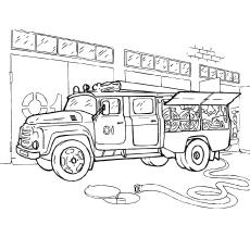 Colorir caminhão de bombeiros