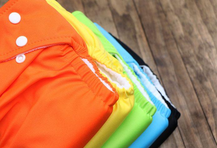 Fraldas de pano coloridas