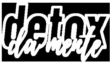 logotipo de desintoxicação branco