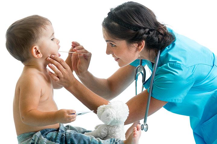 dor de garganta em crianças pequenas