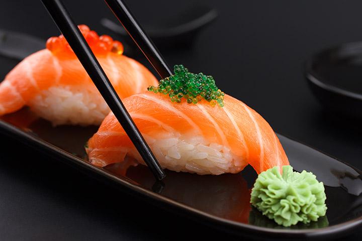 Sushi de salmão nigiri