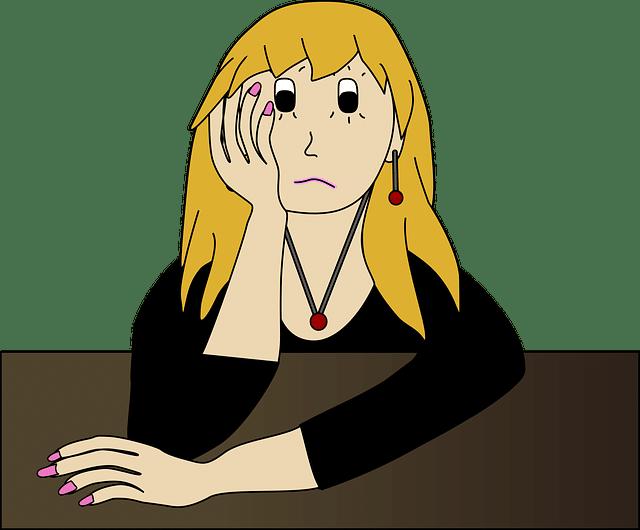 foto adolescente preocupada