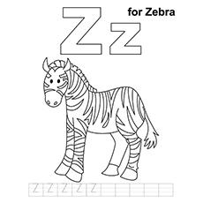 Desenhos de letra Z para colorir