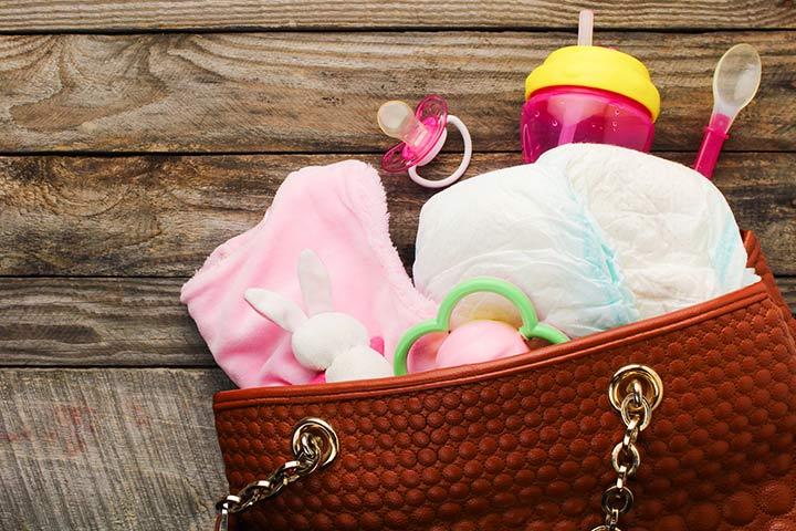 Sacos de fraldas elegantes para mães novas e práticas
