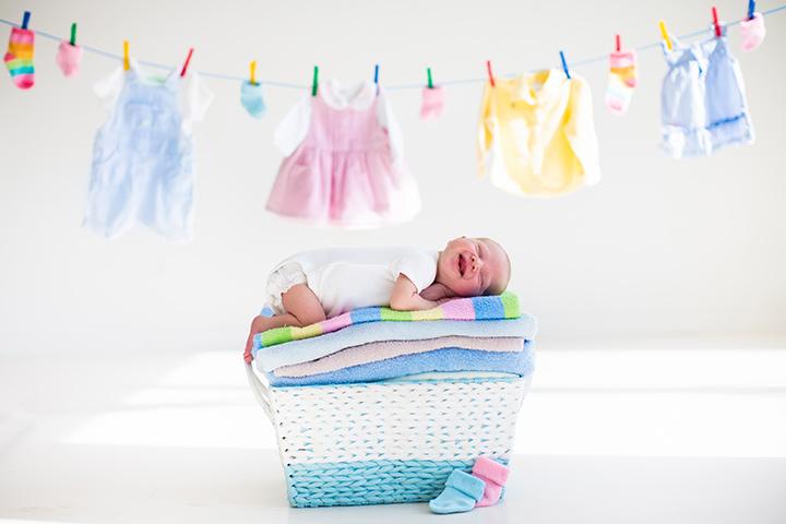 Seja gentil com roupas de bebê com esta roupa de bebê lavar