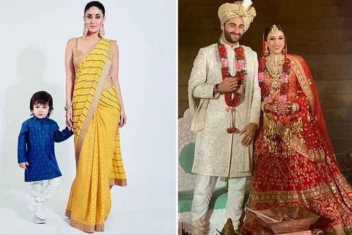 Taimur Ali Khan rouba o show no casamento de sua 'mãe' Armaan Jain, posa com sua mãe, Kareena