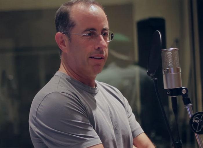 Jerry Seinfeld durante a gravação do álbum About Nothing. (Você não está pronto para o casamento)