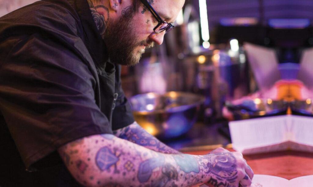 Chef Chad Barrett equilibra paternidade e comida
