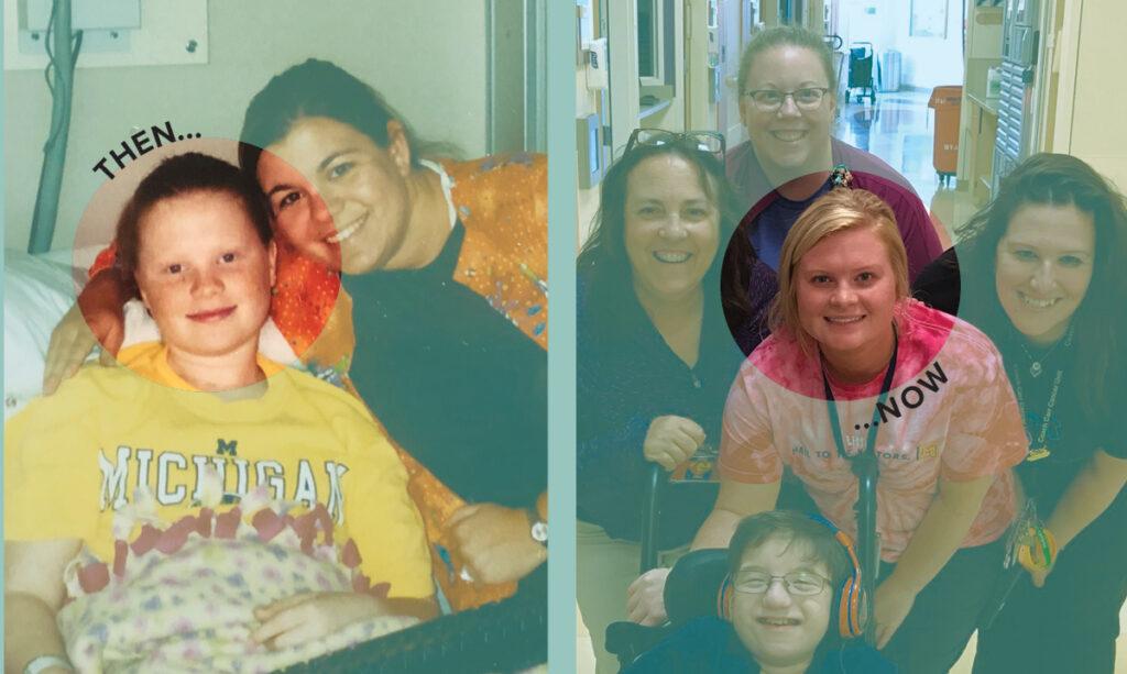 Sobrevivente de leucemia infantil Shannon Spicer agora trabalha em hospital que a tratou