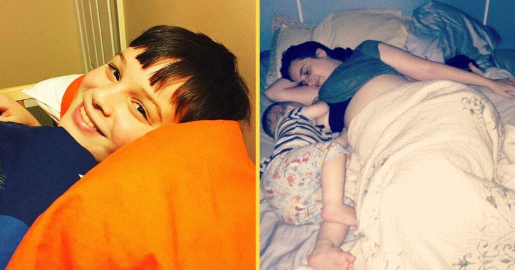 Co-dormir não tem um limite de idade em nossa família