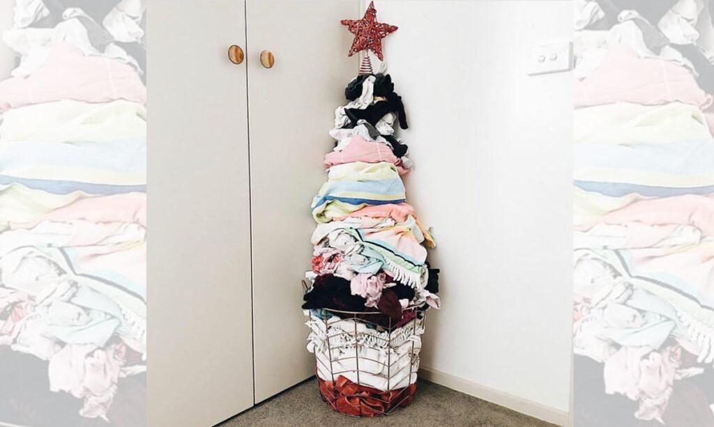 A árvore de Natal suja da mamãe fica viral