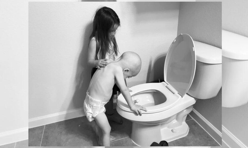 A foto do câncer infantil na mãe traz fortes reações
