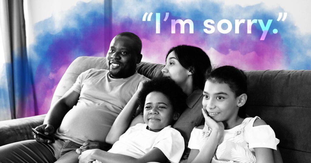 Por que eu faço questão de pedir desculpas aos meus filhos quando eu estrago tudo