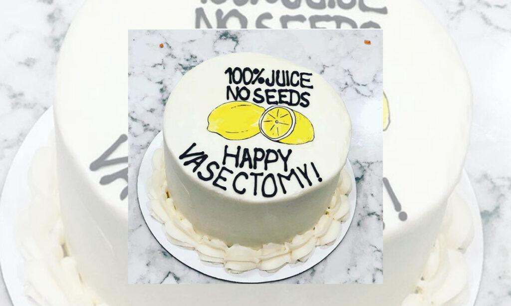 Os bolos e as partes da vasectomia são uma coisa para paizinhos-não-mais