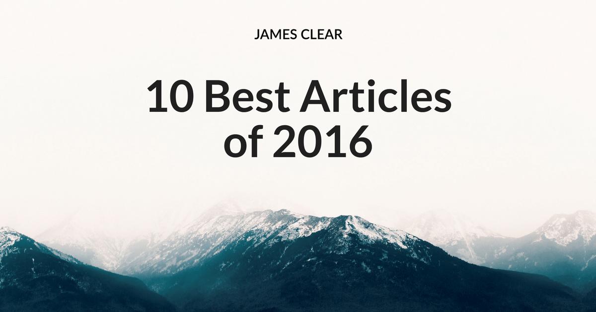 Os 10 principais artigos de 2016