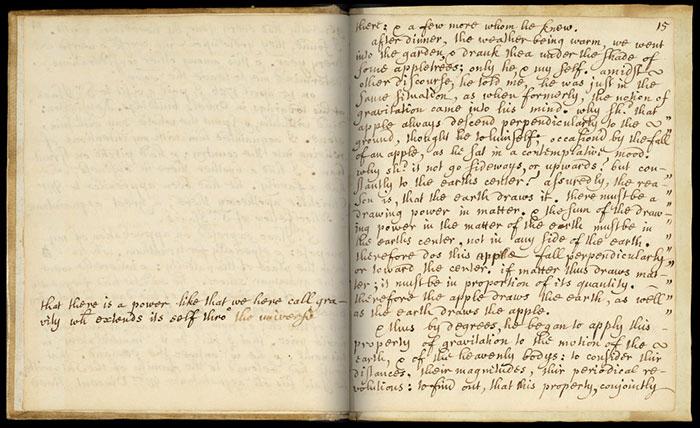 Memórias da vida de Sir Isaac Newton, de William Stukeley